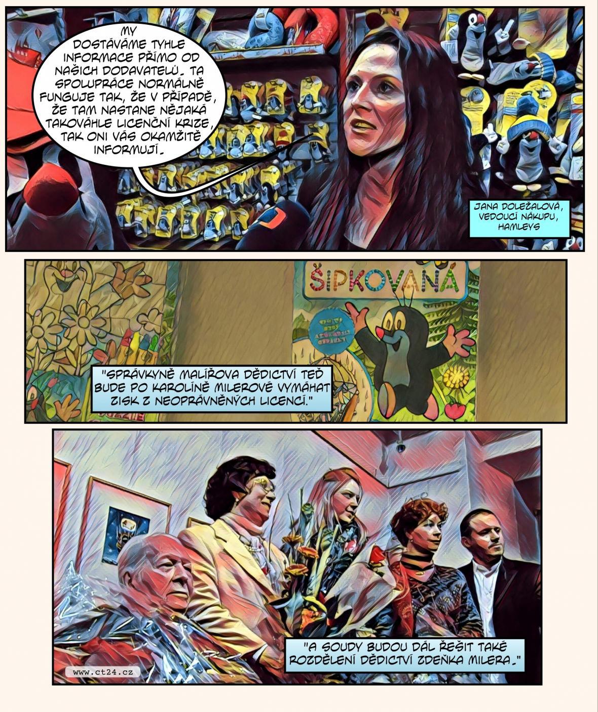 Komiks: Millerová prohrála spor o krtečka