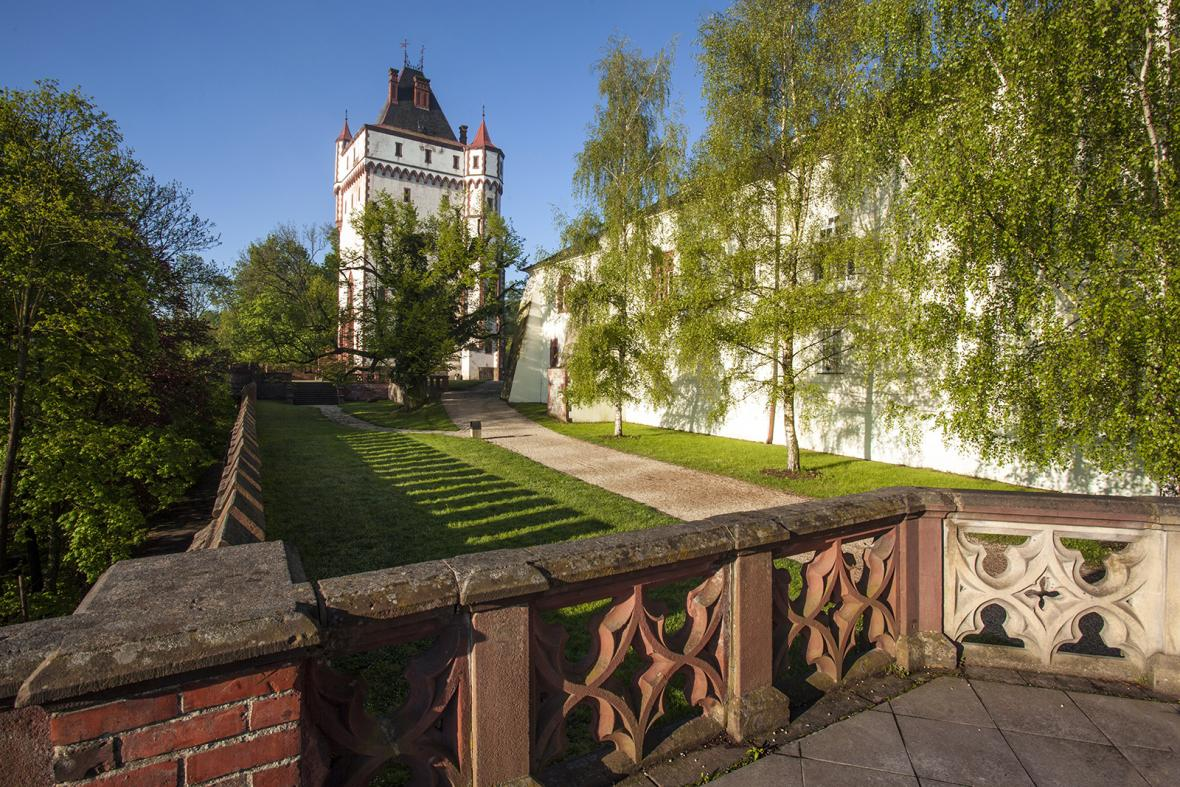 Zámek Hradec nad Moravicí před dokončením rekonstrukce