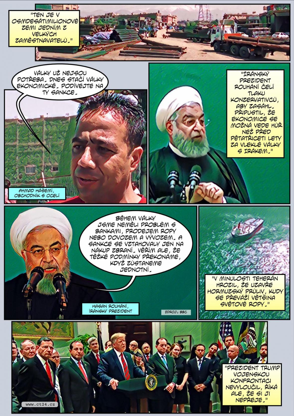 Komiks: Íránské protesty