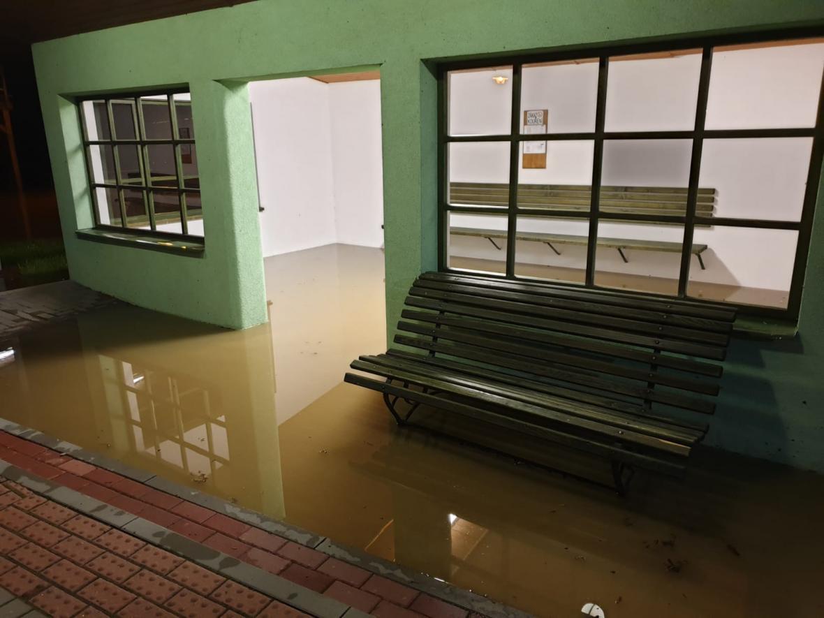 Záplavy na východě Česka