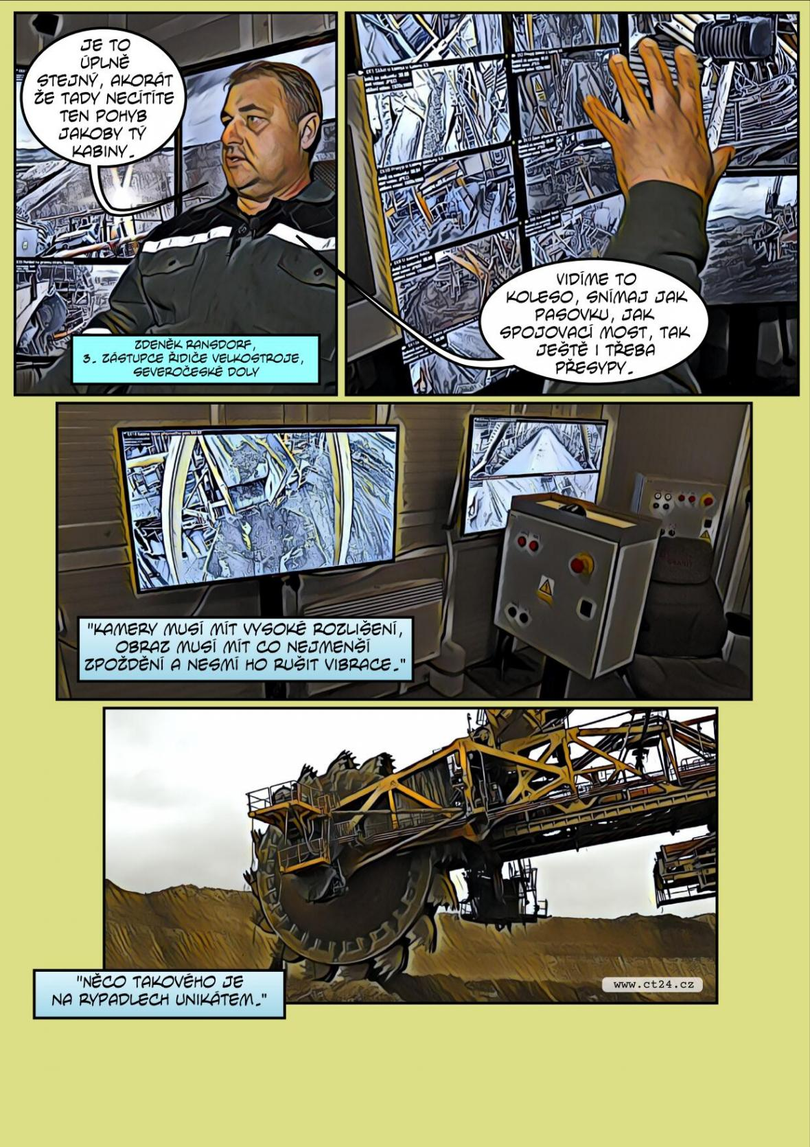 Komiks: Obří rypadlo je možné ovládat na dálku