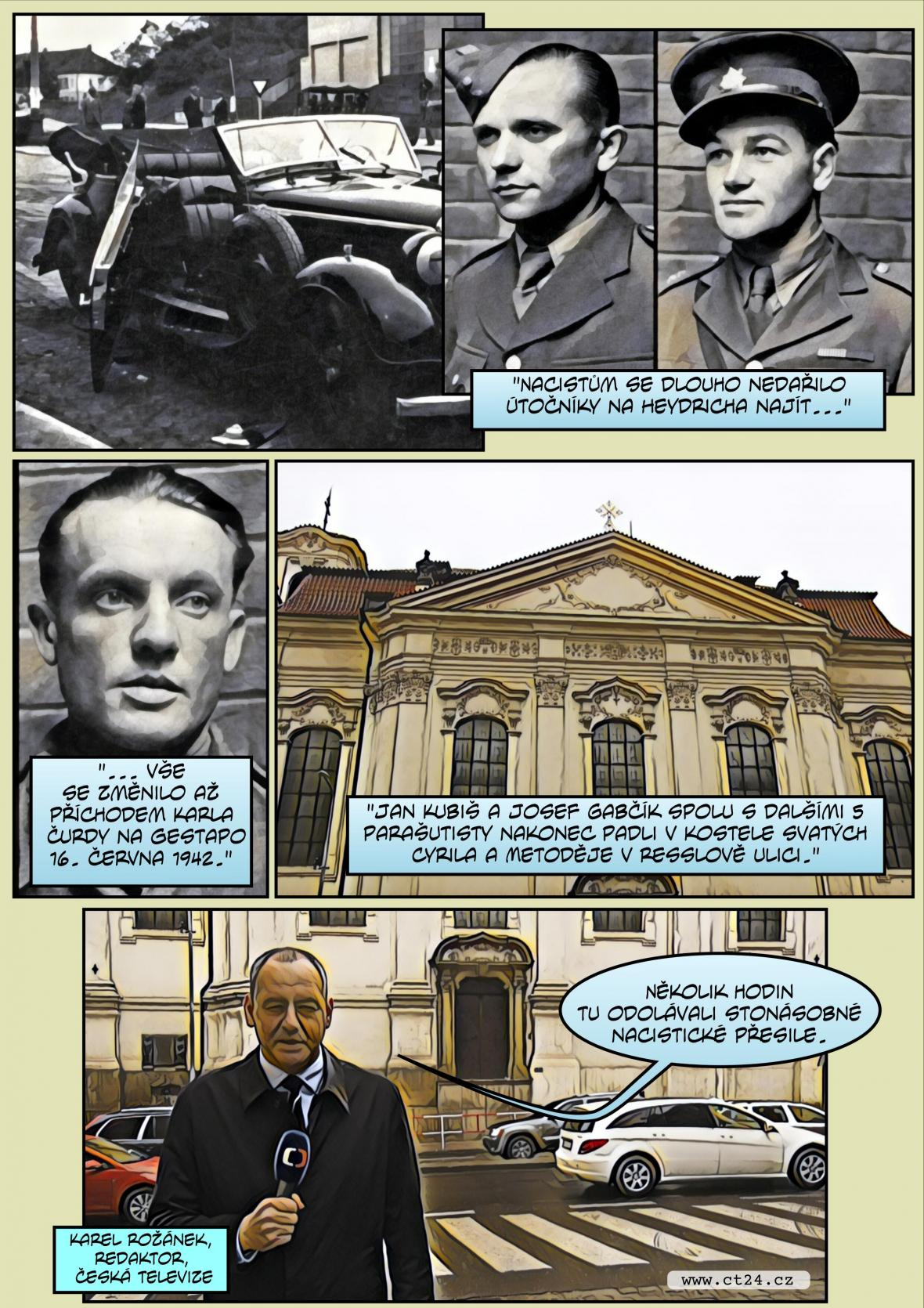 Komiks: Výročí atentátu na Heydricha