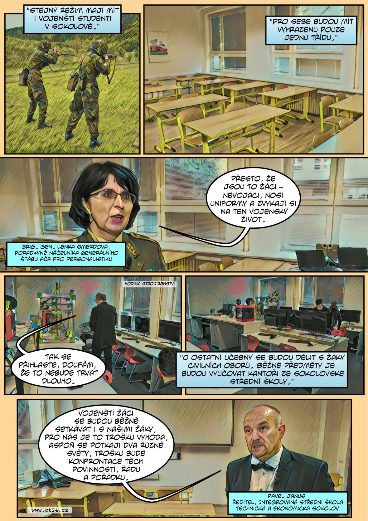 Komiks: Nová vojenská škola