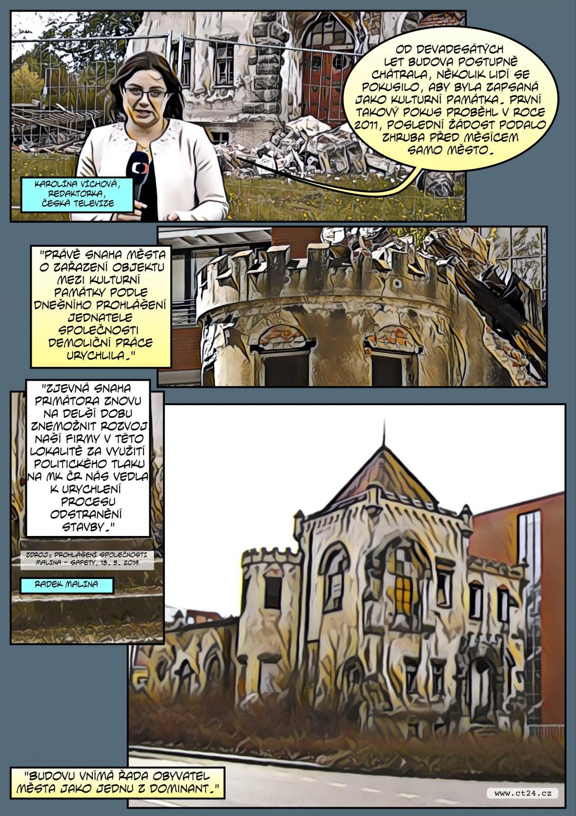Komiks: Demolice zámečku Schlaraffia