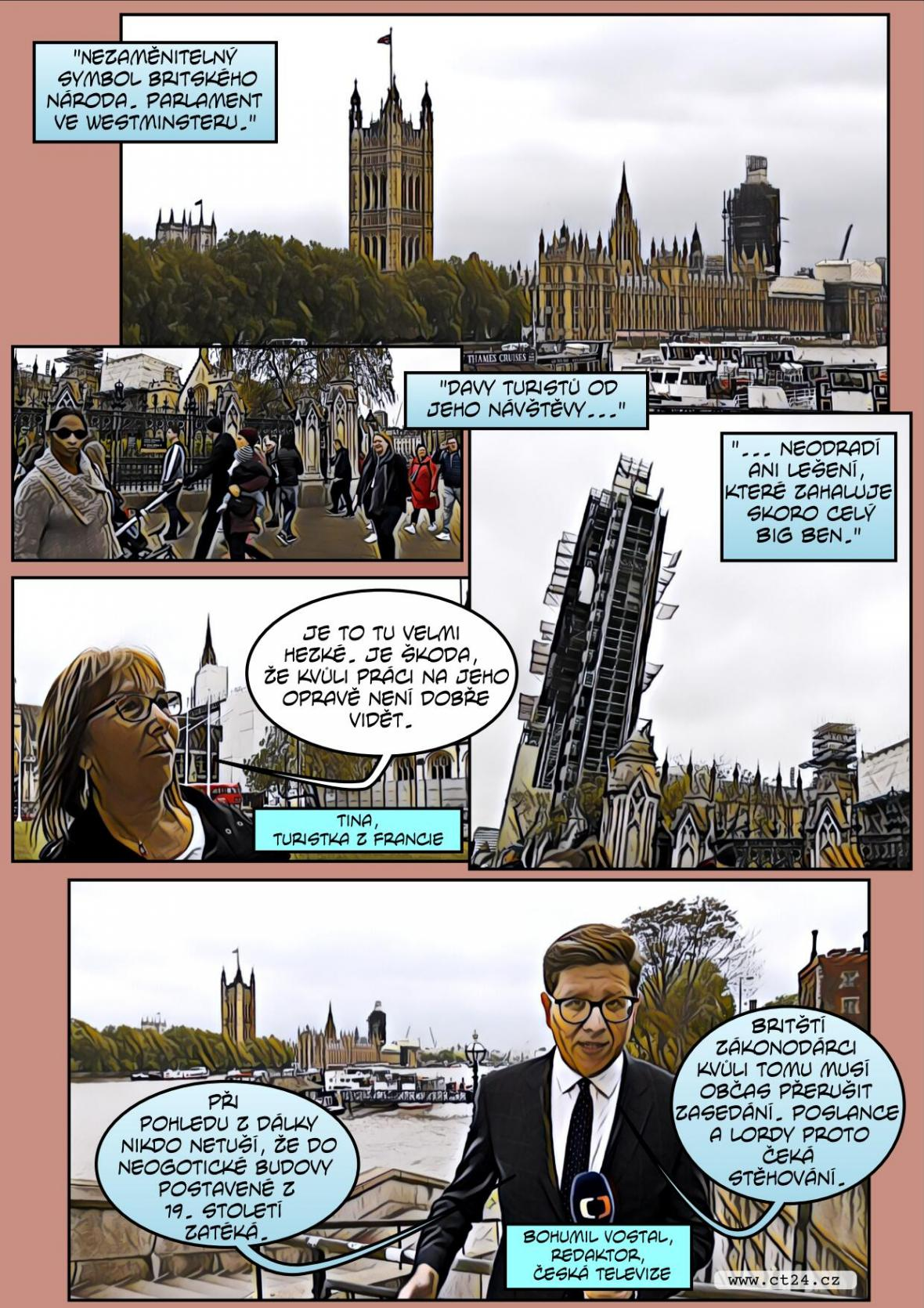 Komiks: Britský parlament čeká rekonstrukce