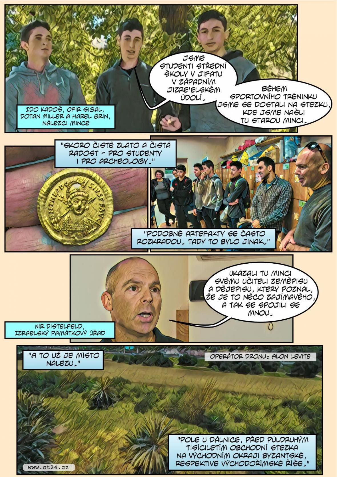 Komiks: Zlatý nález studentů v Izraeli