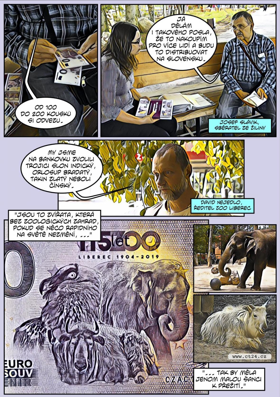 Komiks: Sběratelská eurobankovka