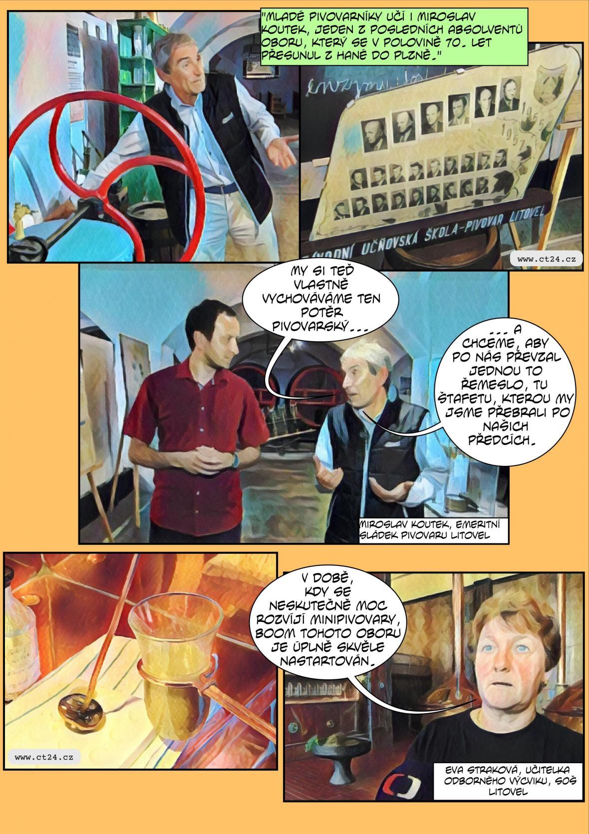 Komiks: Budouci sládci skládali zkoušky