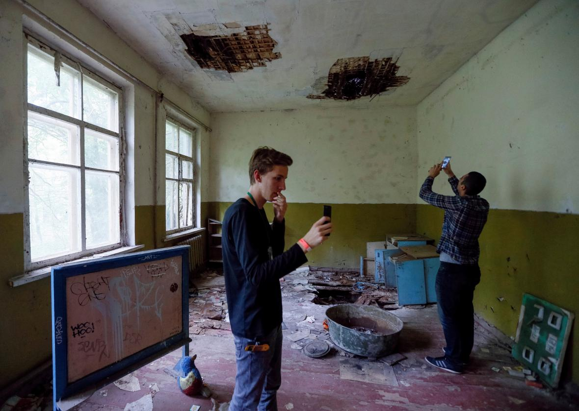 Turisté si oblíbili černobyl