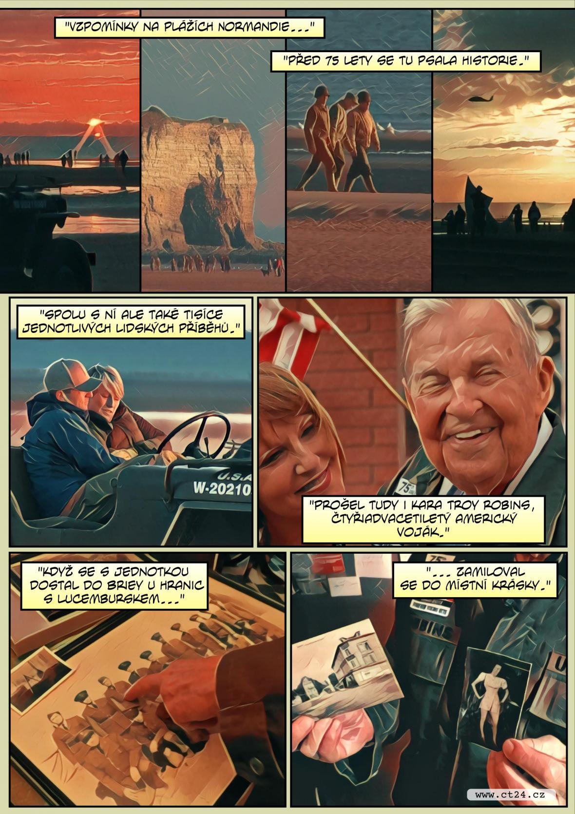 Komiks: Americký veterán našel ztracenou lásku