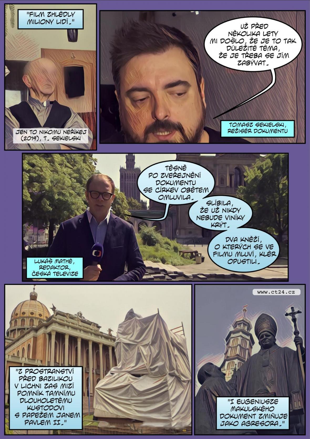 Komiks: Papežův čistič v Polsku