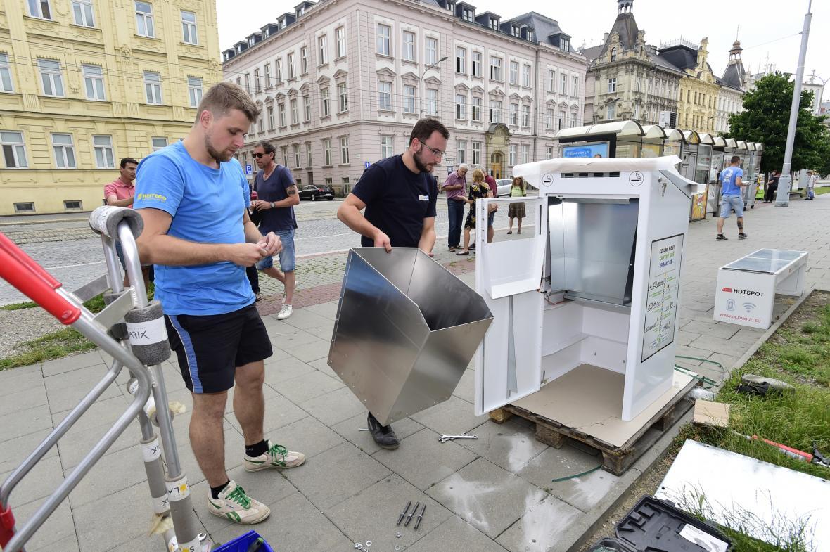 Olomouc instalovala chytré odpadkové koše