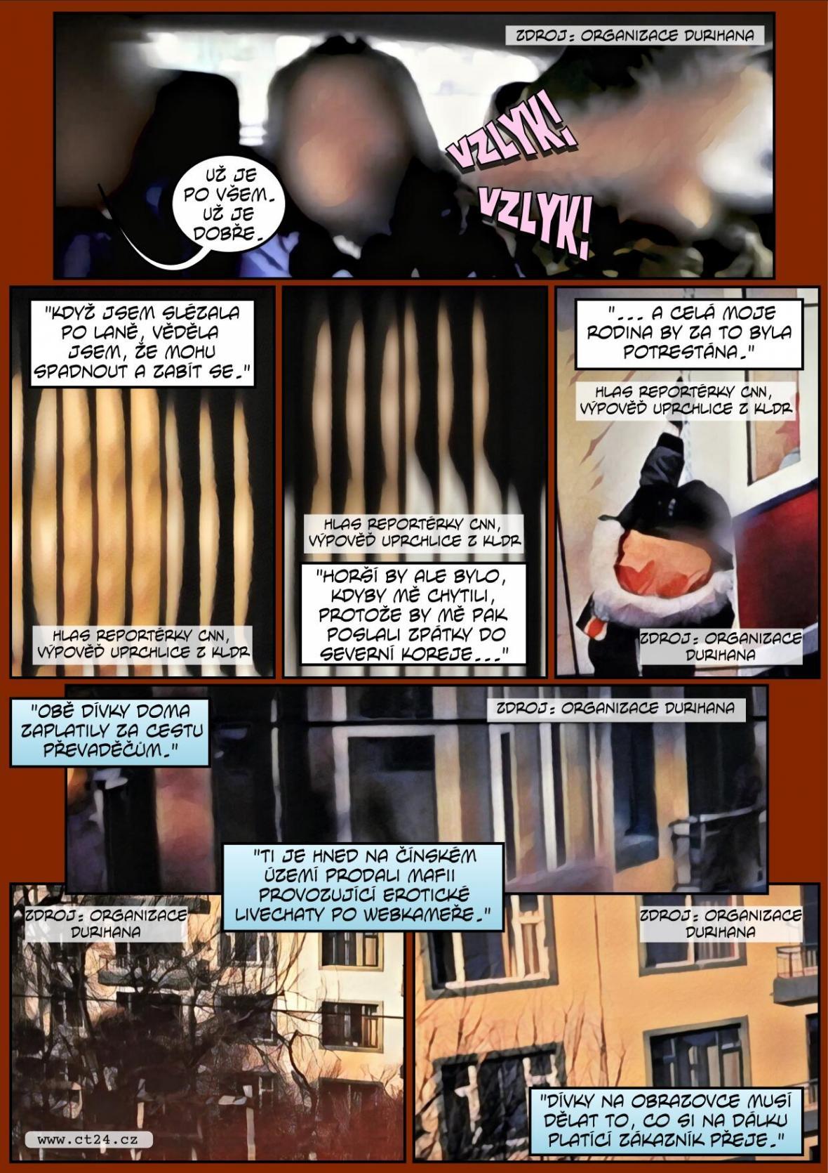Komiks: Osudy žen z KLDR v Číně