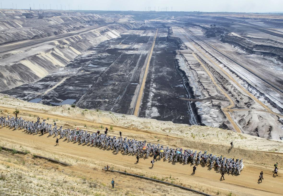 Protesty proti težbě uhlí v Německu