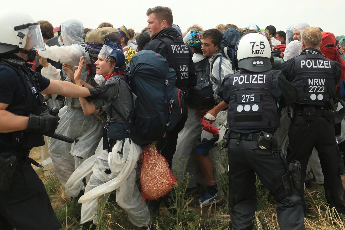 Protesty proti těžbě uhlí v Německu