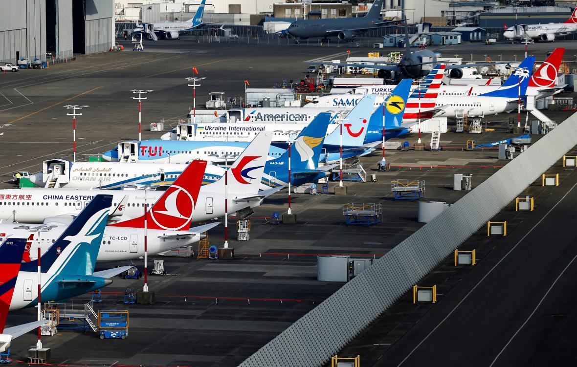 Parkování Boeingů