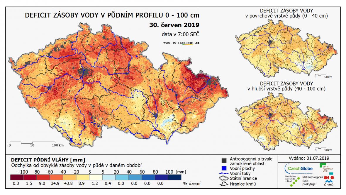 Deficit půdní vláhy [mm]