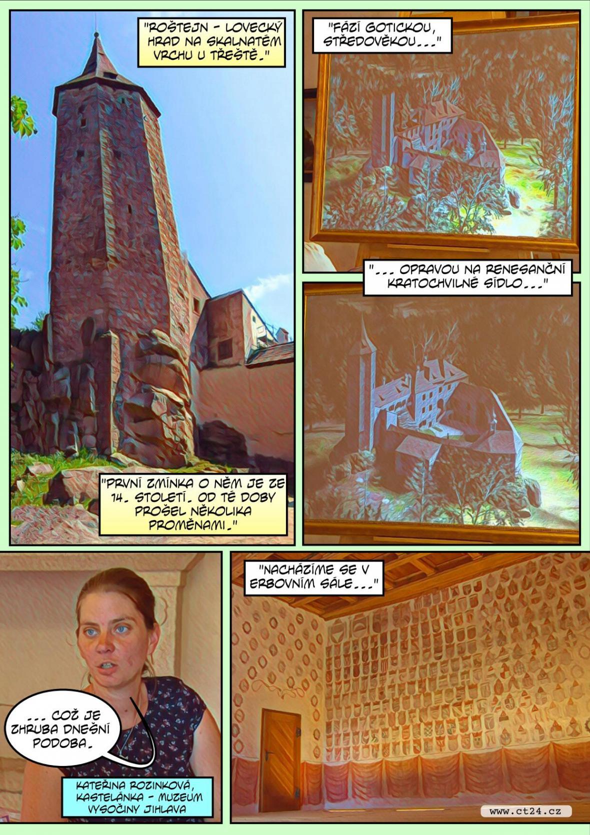 Komiks: Roštejn se otevírá veřejnosti