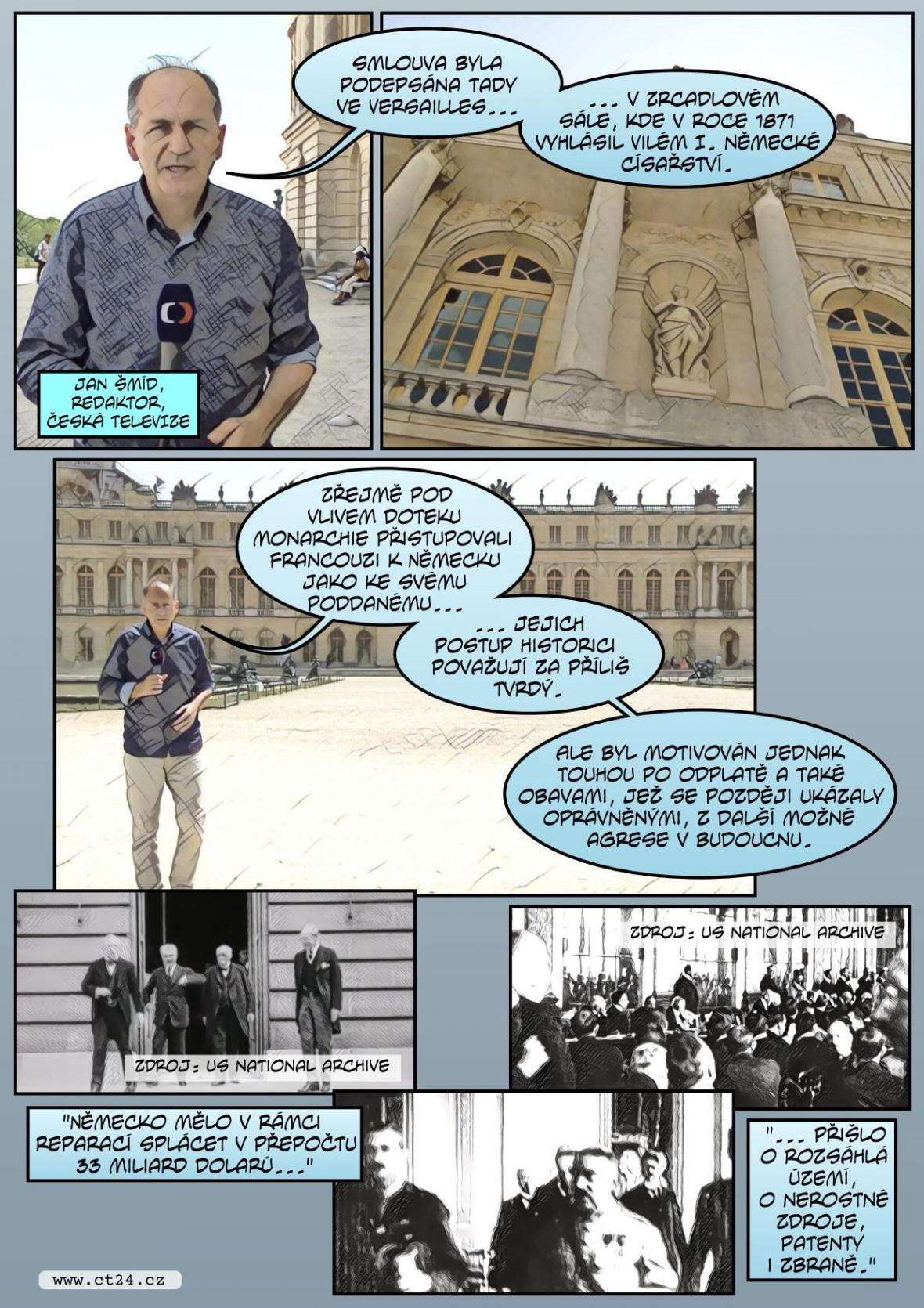 Komiks: Sto let od Versailleské smlouvy
