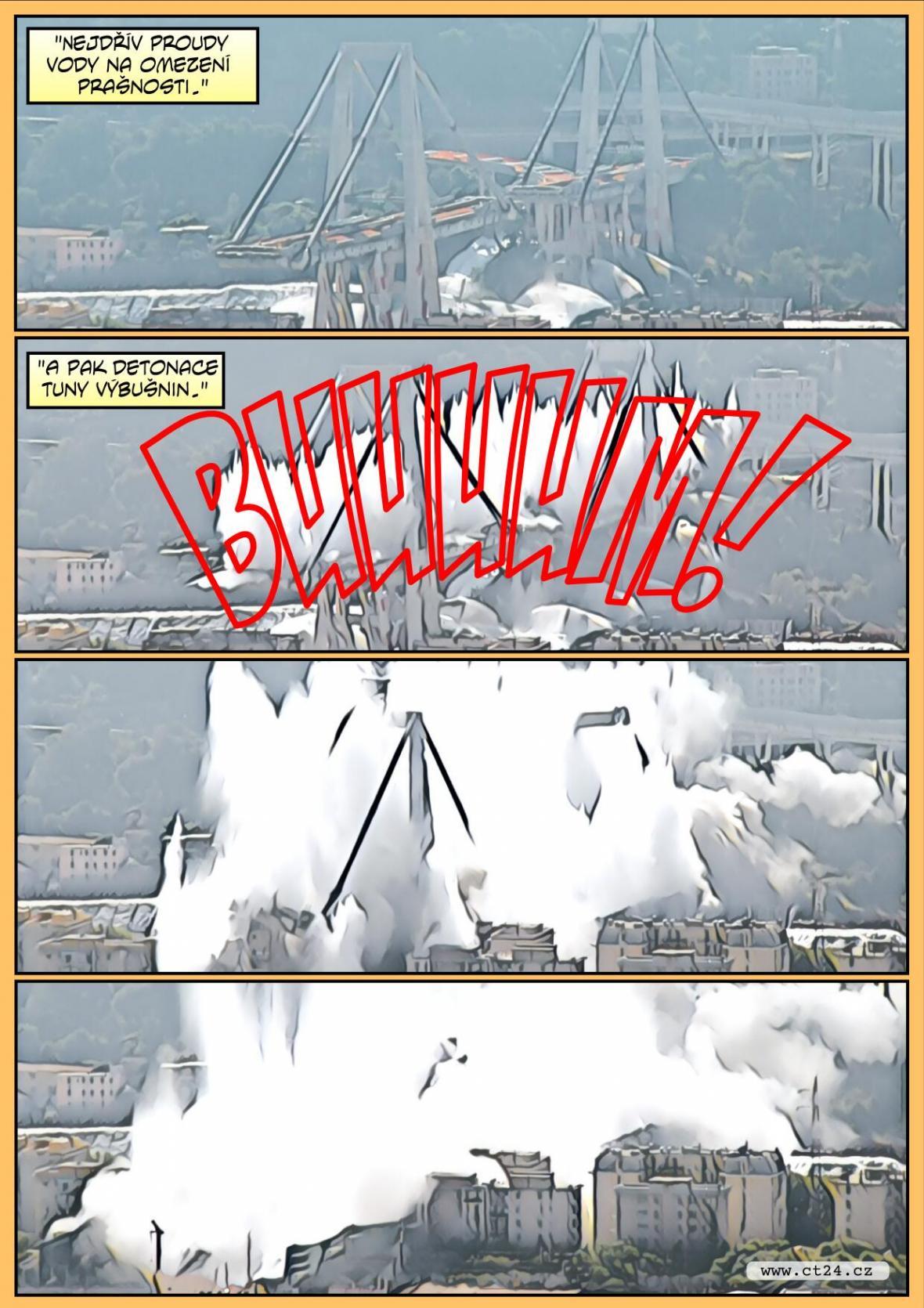 Komiks: Demolice janovského mostu