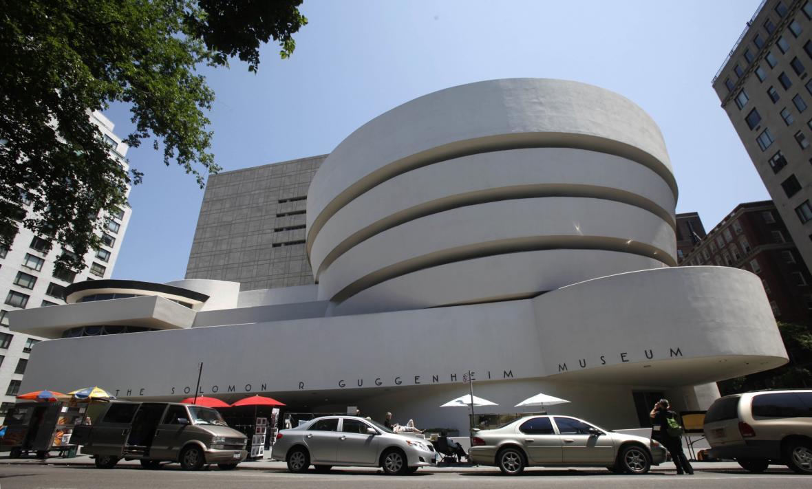 Guggenheimovo muzeum v New Yorku od Franka Lloyda Wrighta