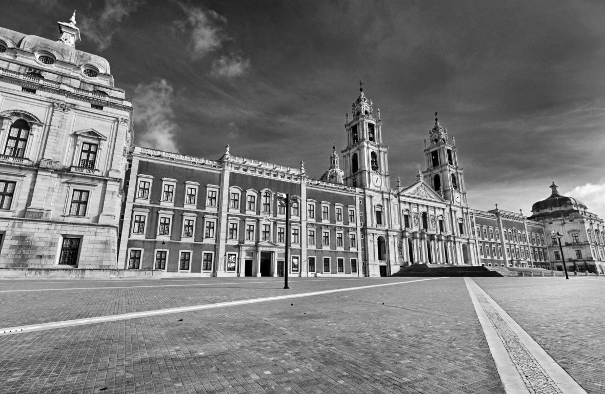 Palácový komplex v portugalském městě Mafra