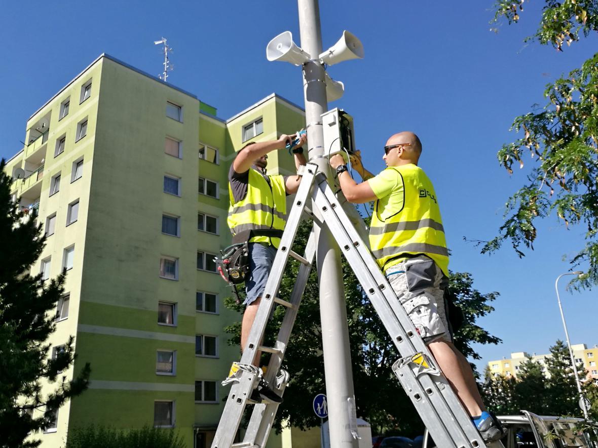 Instalace nového informačního a výstražného systému v Olomouci