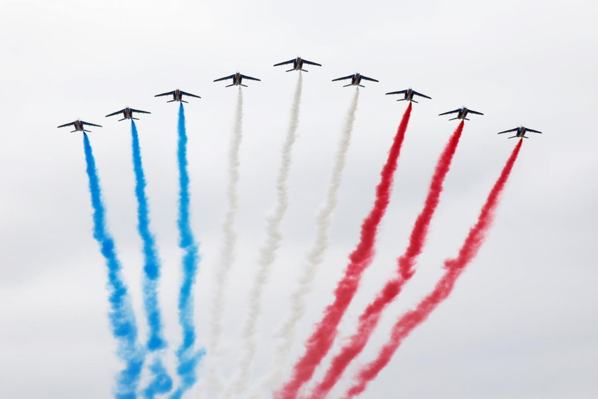 Přehlídka francouzského letectva