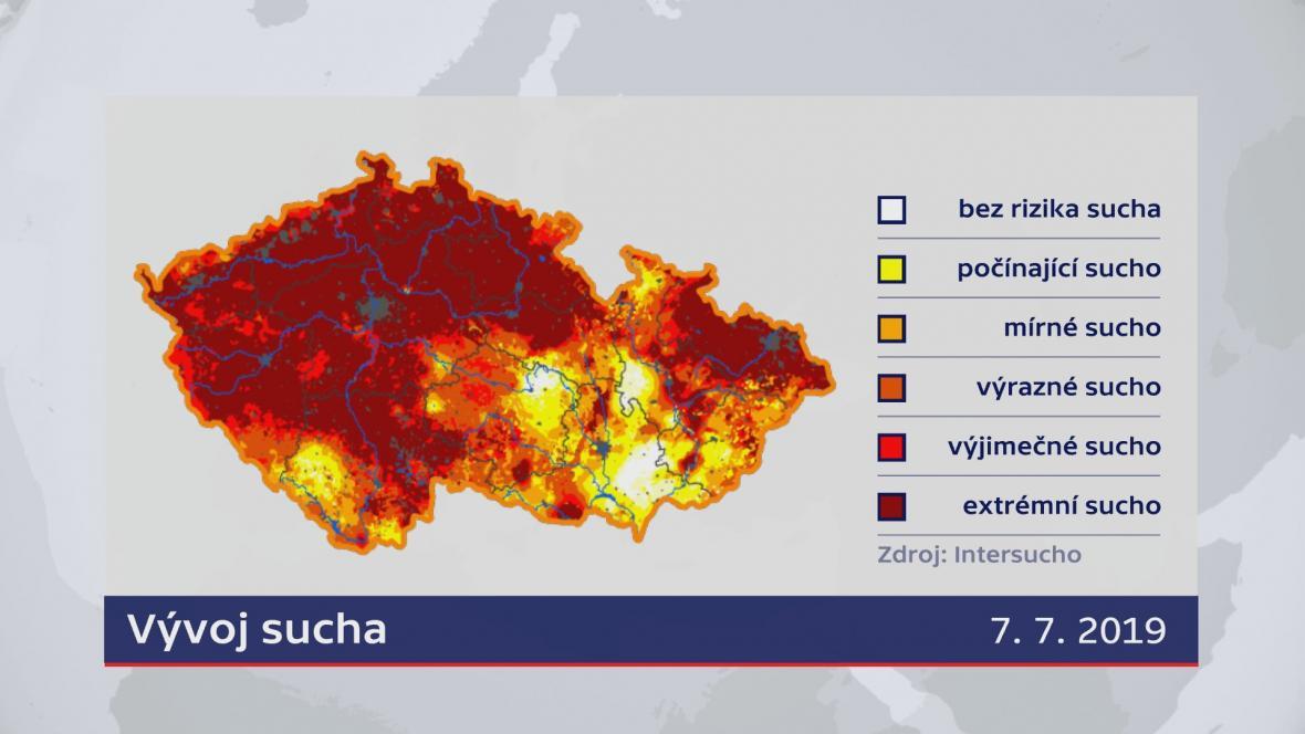 Sucho v Česku (7.7.2019)