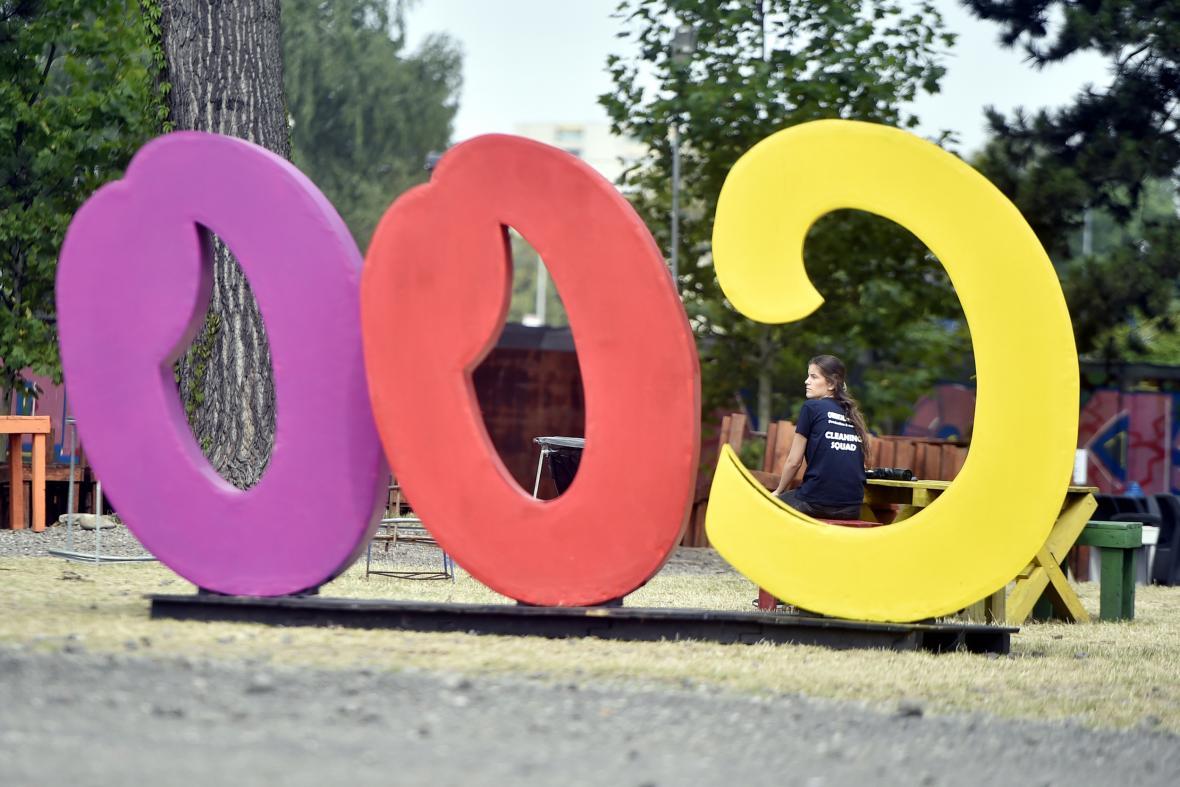 Přípravy na 18. ročník festivalu Colours of Ostrava