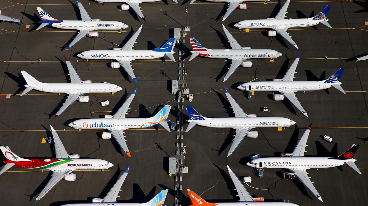 Uzemněné stroje 737 MAX