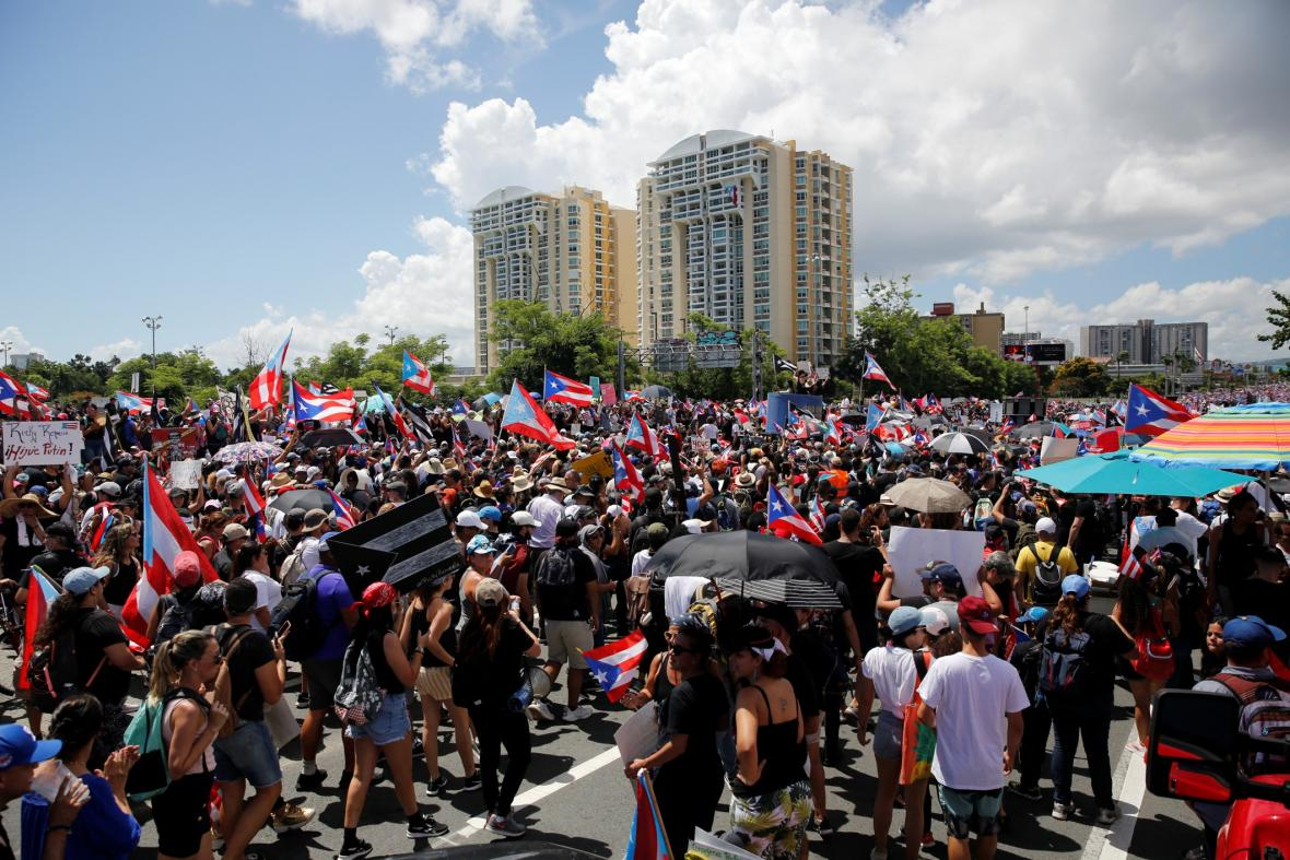 Protesty v Portoriku