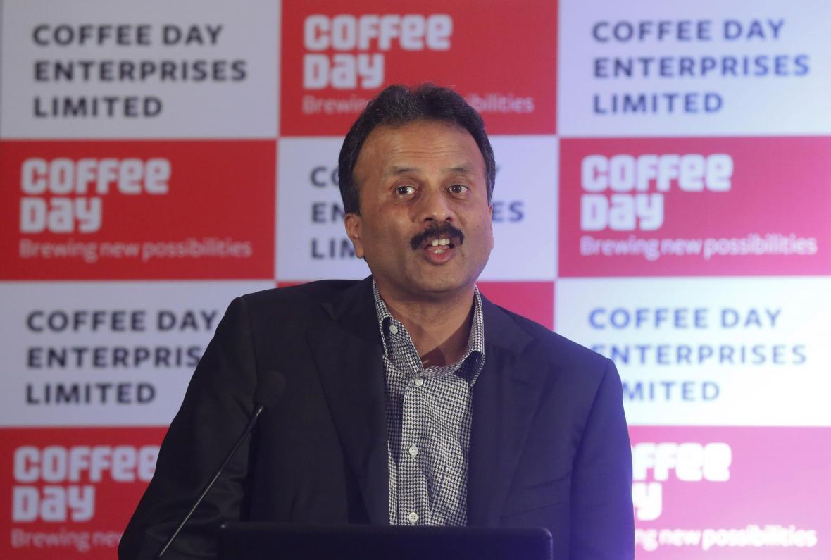 Zakladatel společnosti Cafe Coffee Day V.G. Siddhartha (na snímku z roku 2015)