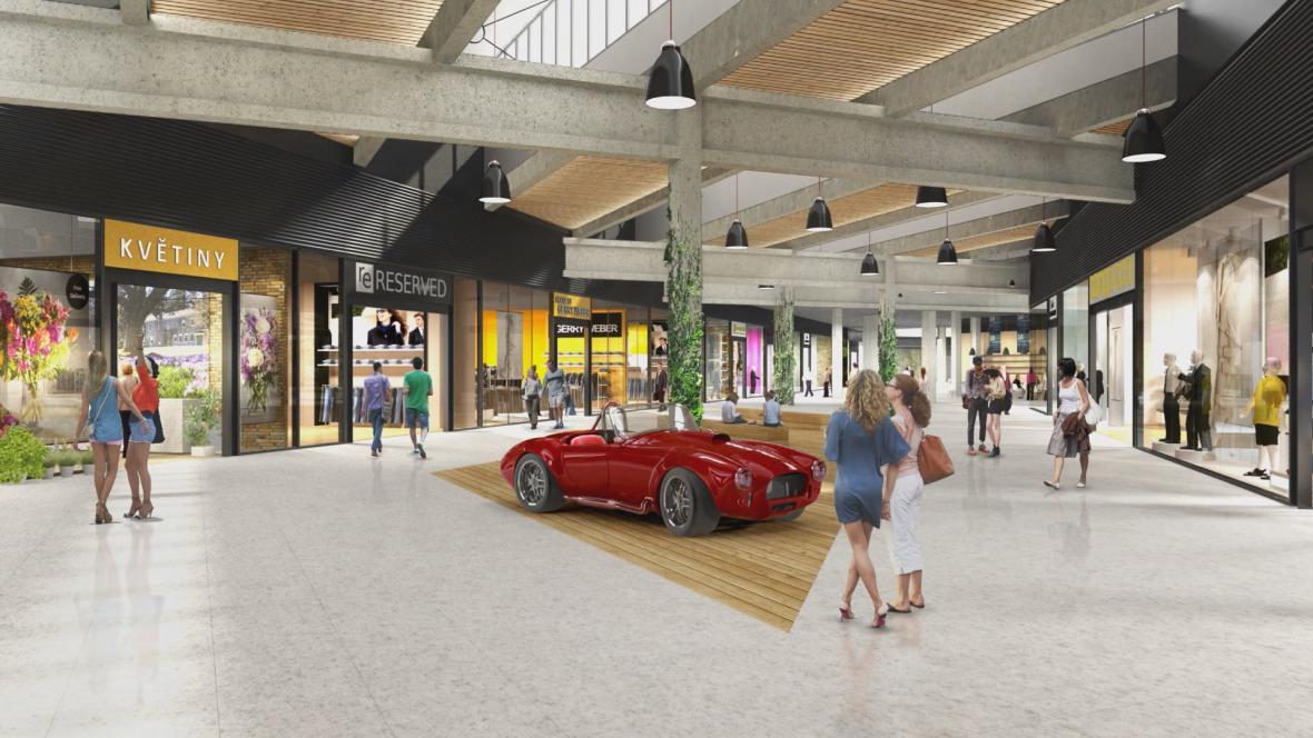 Vizualizace obchodního centra Futurum