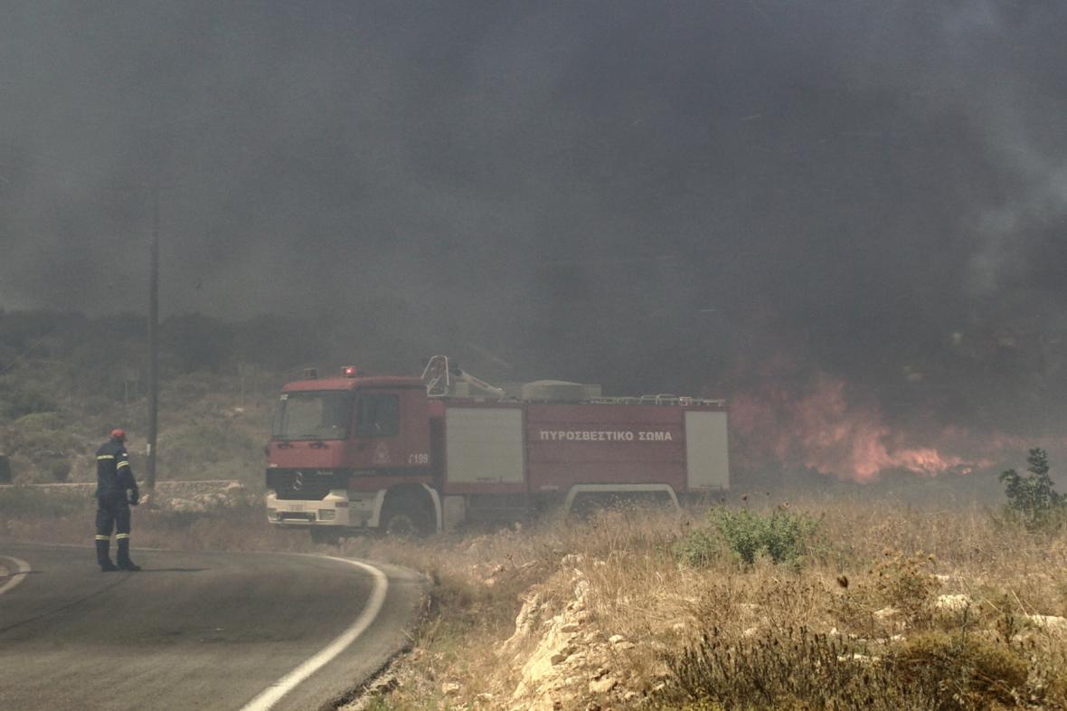 Lesní požáry v Řecku