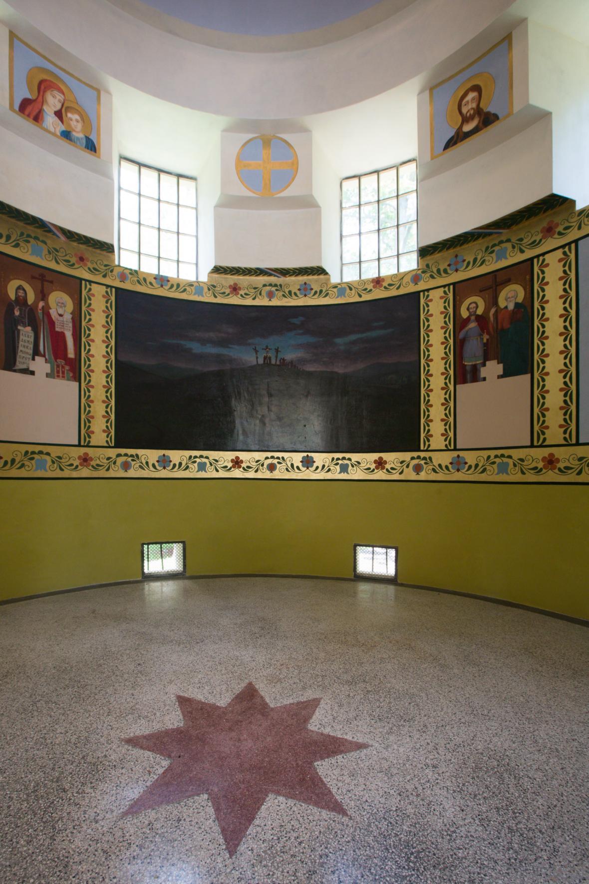 Vnitřní prostory Jihoslovanského mauzolea
