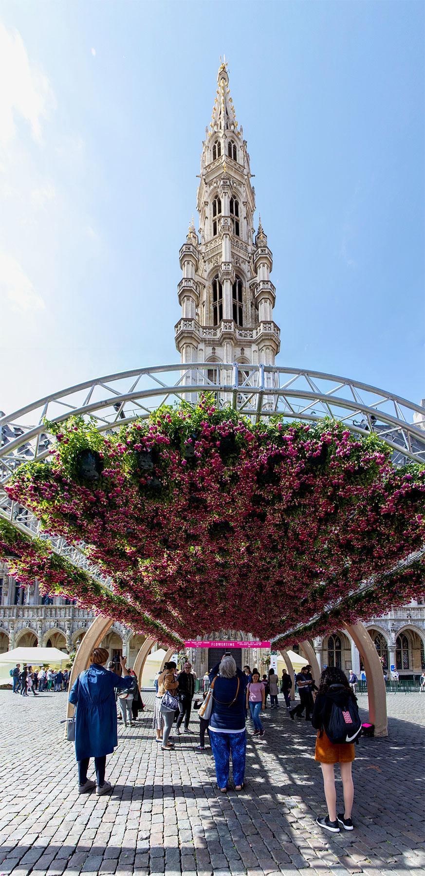 Květinový festival v Bruselu
