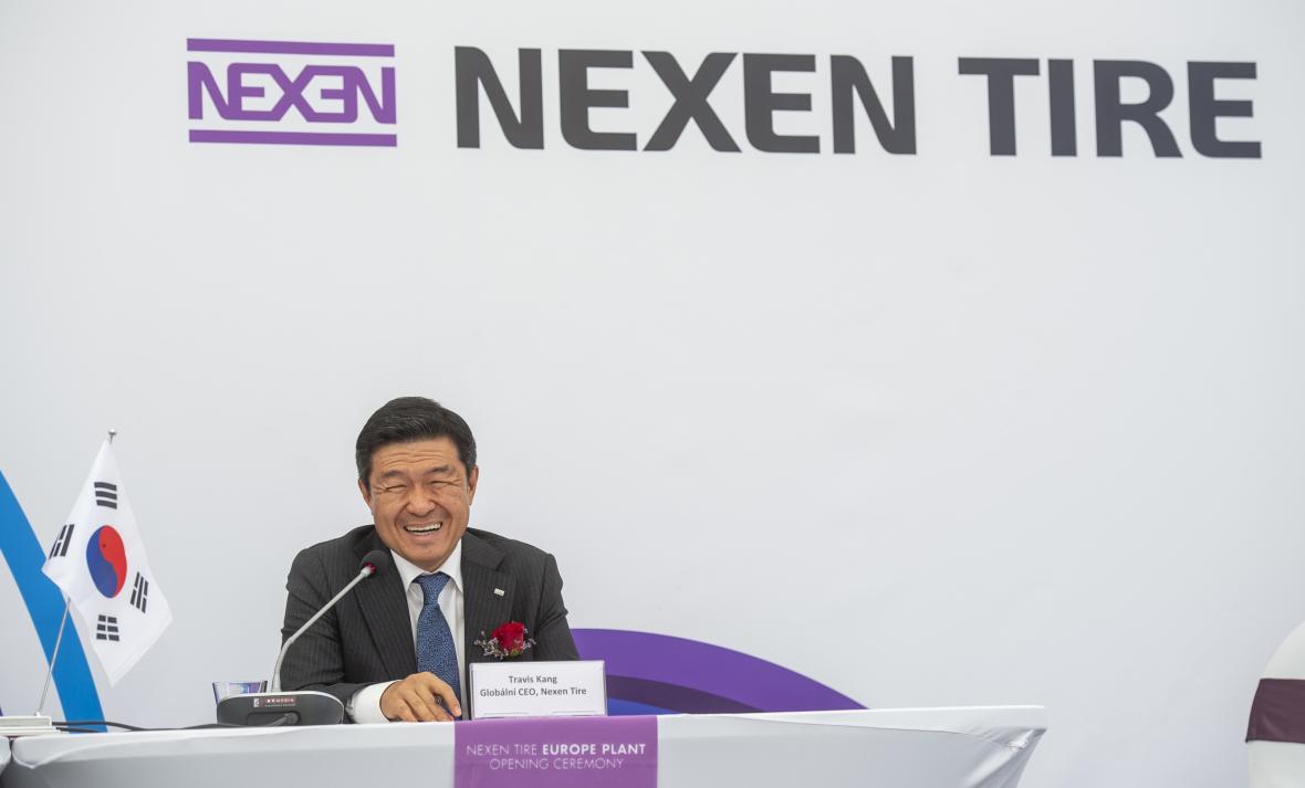 Výkonný ředitel Nexen Tire Travis Kang