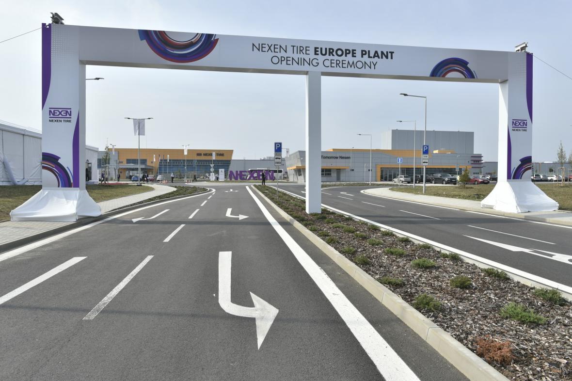 Korejská továrna na pneumatiky Nexen Tire Europe zahájila provoz v průmyslové zóně Triangle u Žatce