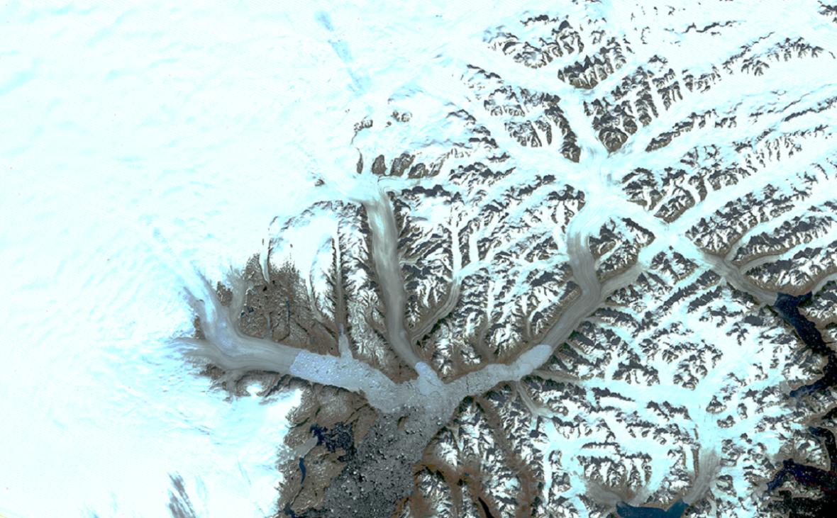 Ledovec Schweizerland roku 1972 a 2019