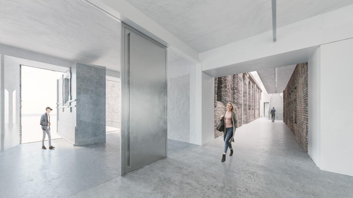 Vizualizace opravených městských jatek v Ostravě