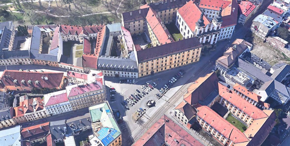 Současný stav na náměstí Republiky v Olomouci
