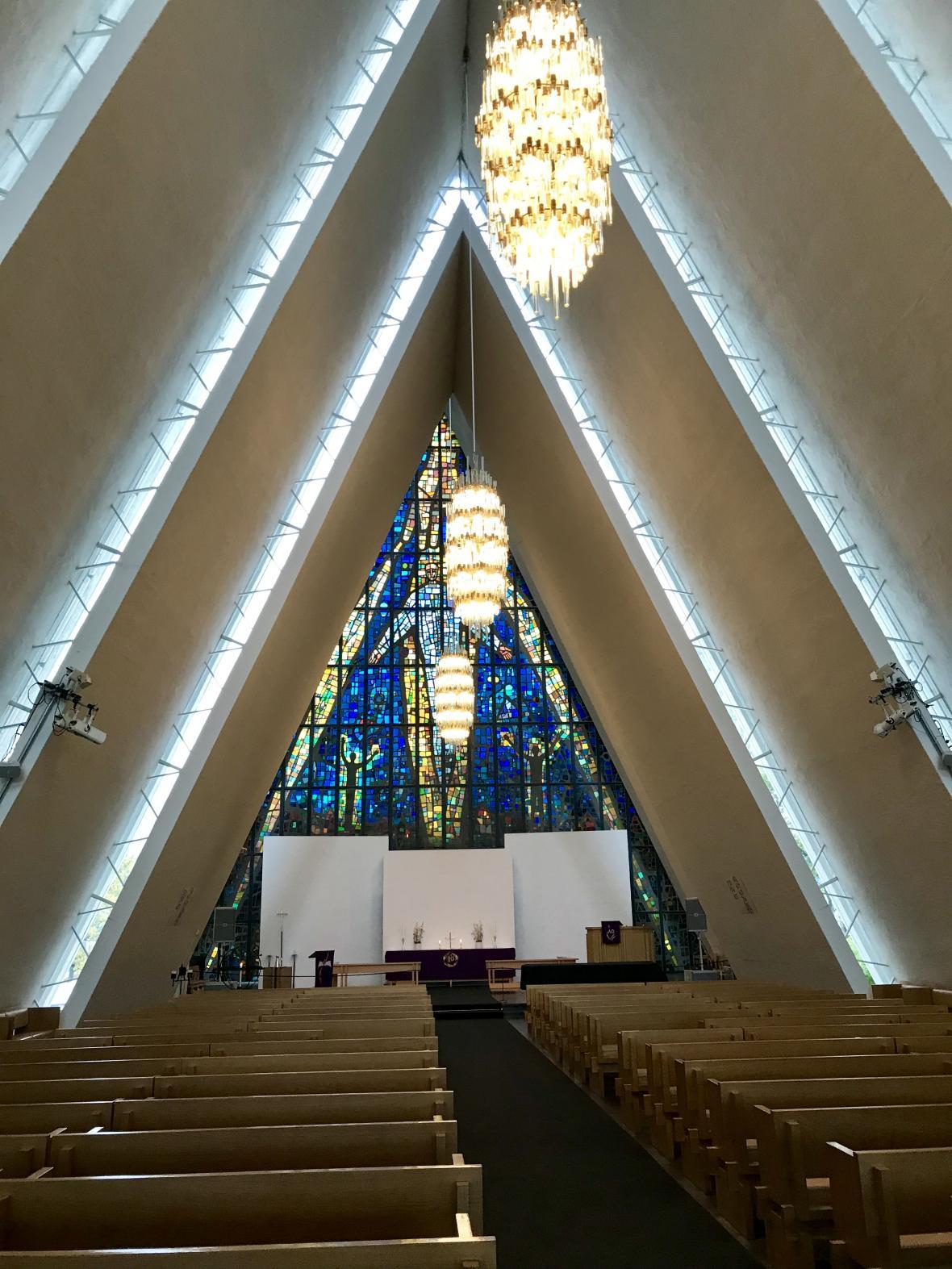 Arktická katedrála ve městě Tromsø