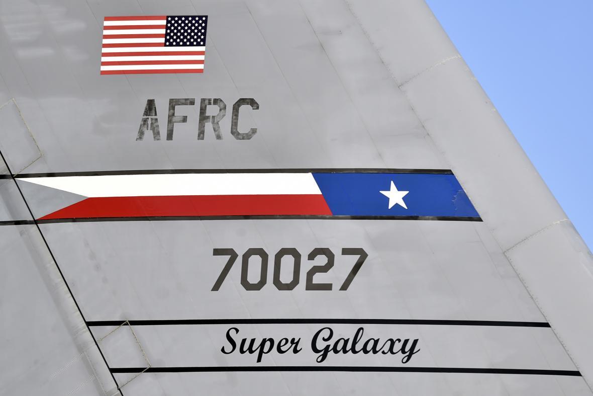 Detail transportního letounu Lockheed C-5M Super Galaxy americké armády