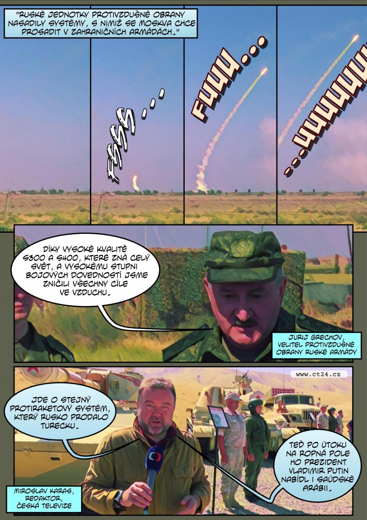 Vojenské cvičení v Rusku