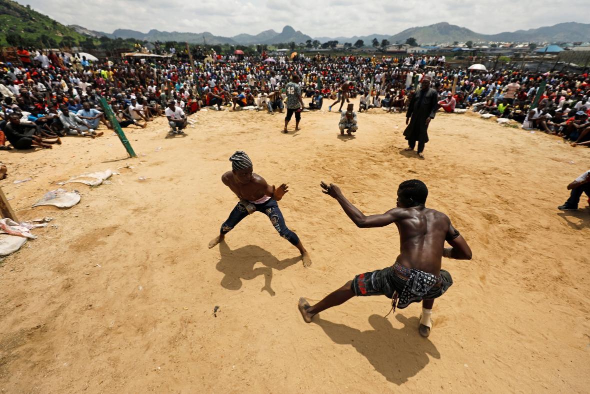 Dambe tradiční sport hauského etnika