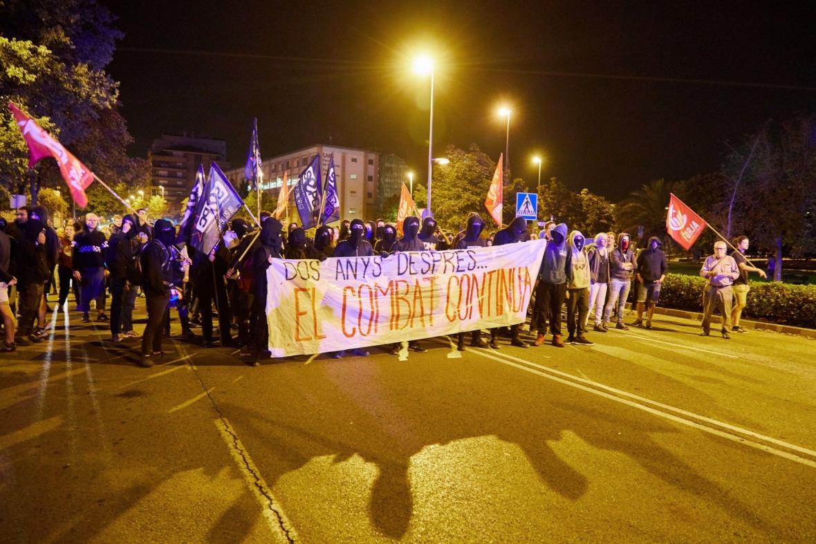 katalánsko si připomíná druhé výročí od referenda