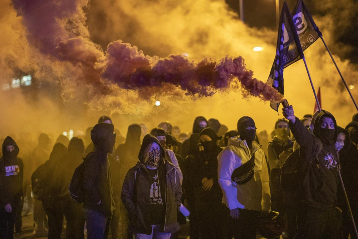 Demonstrace v Gironě
