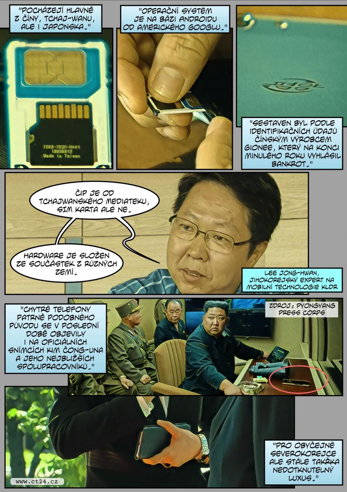 Severní Korea sestavila vlastní smartphony z dovezených součástek