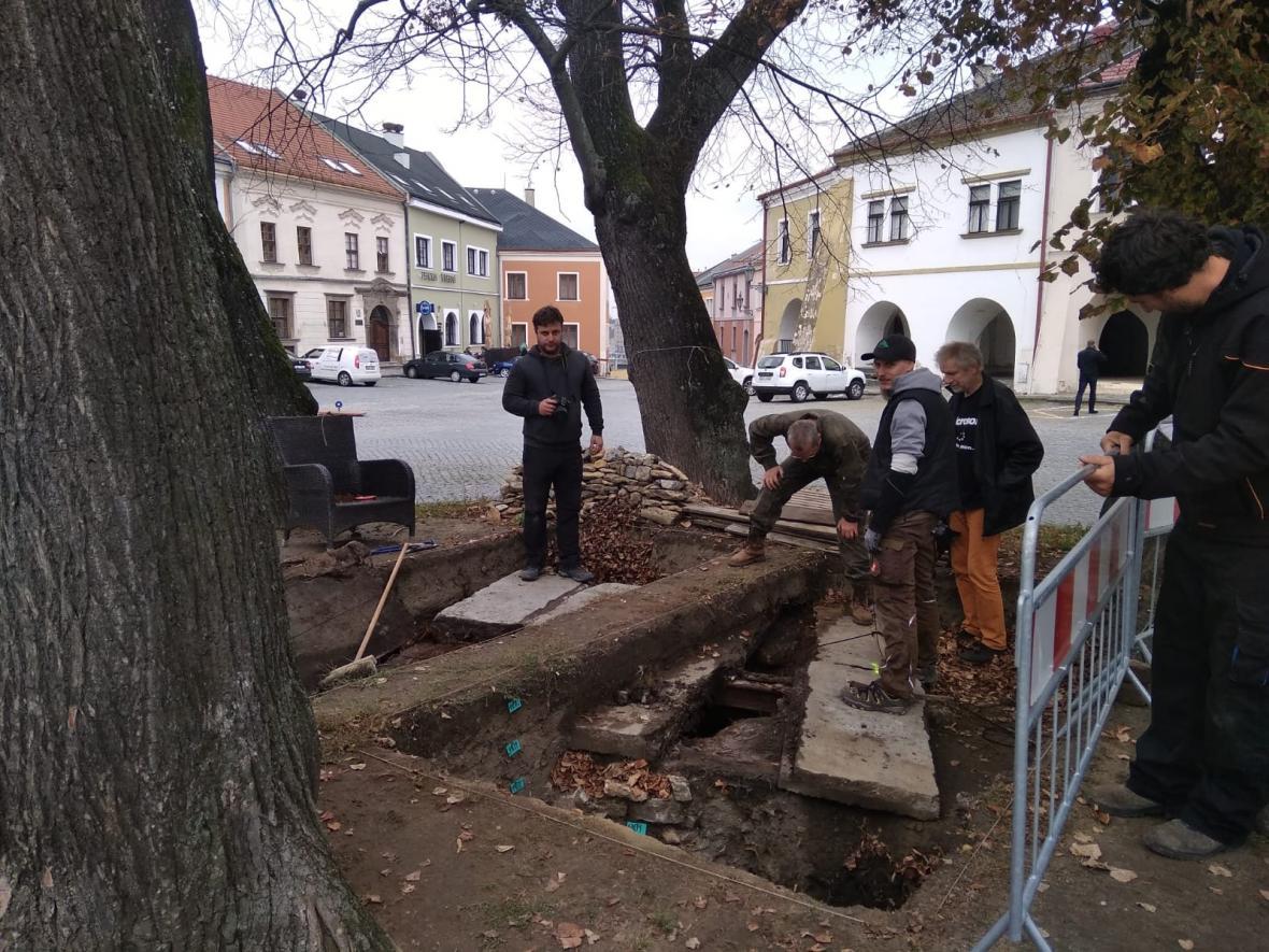 Historická studna na Horním náměstí v Přerově